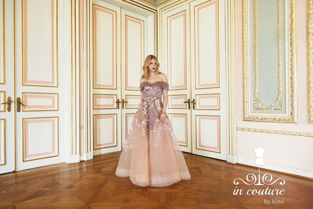 In Couture, evening gown creator